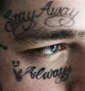 Post face tattoos