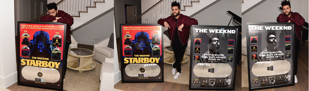 weeknd plaques