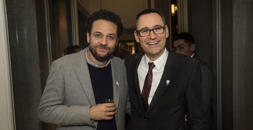 Jonathan Dickins (September Management) and Sony UK boss Jason Iley