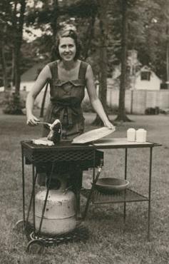 LazyMan inventor gas grill, Model AP Summer 1954