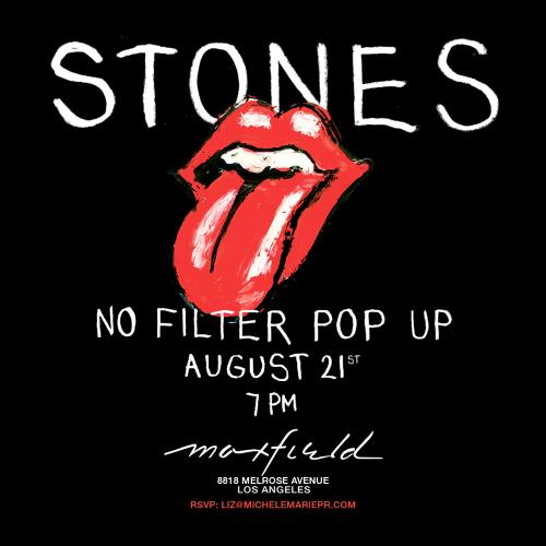 Stones No Filter Tour pop up