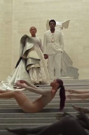The Carters Louvre stairs