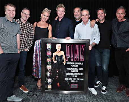 pink and team rca sony