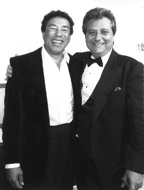 Smokey Robinson and Marty Bandier