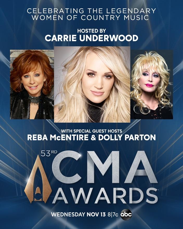 2019 CMA Awards logo with pics