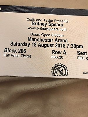 Britney-Spears-tickets-x2-Manchester-18th-August