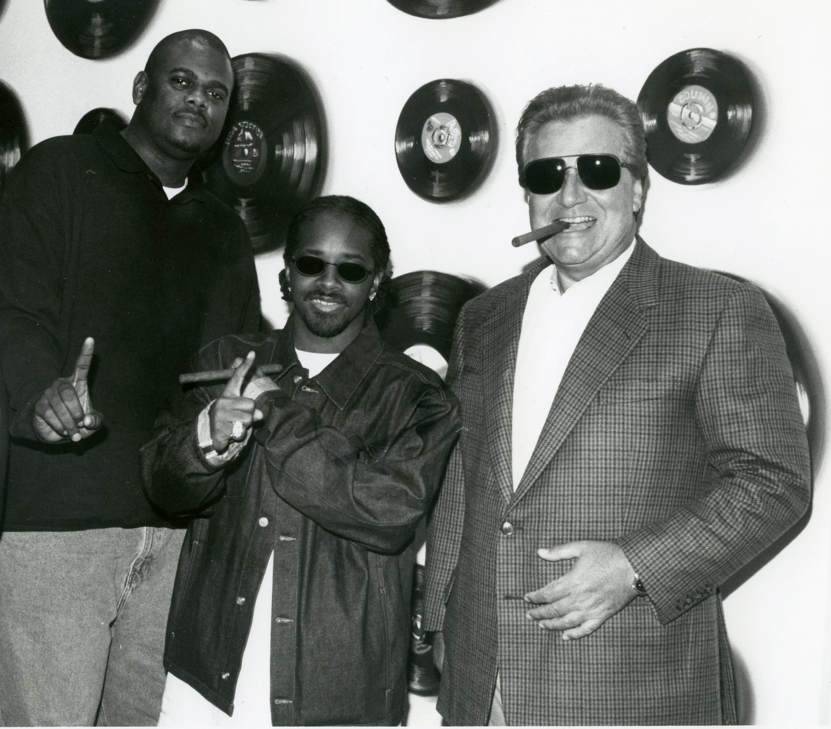 JP in a smoke-filled room with Jermaine Dupri and Marty Bandier