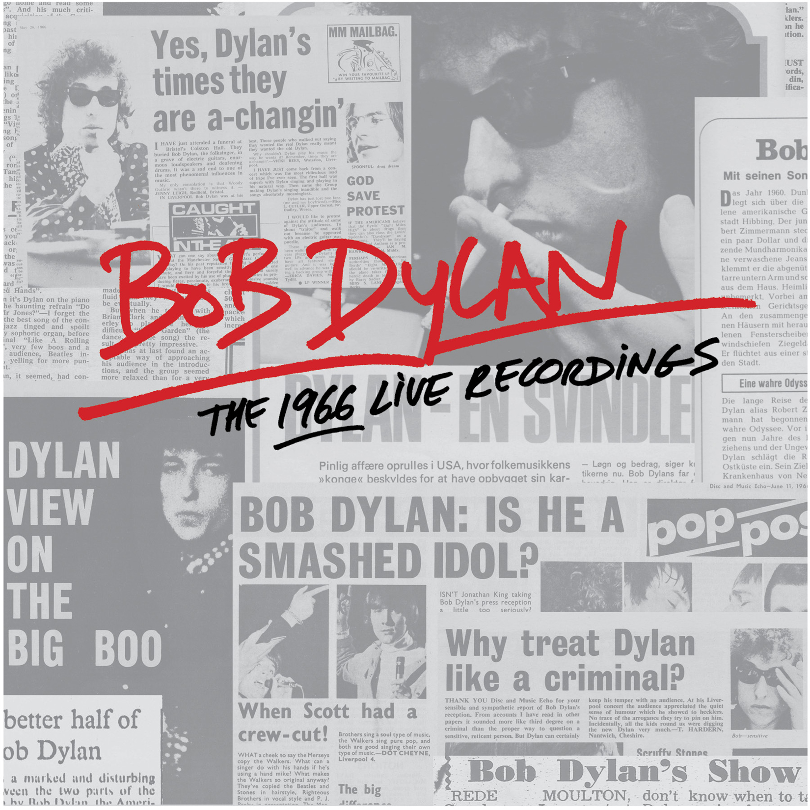 DYLAN The 1966 Live Recordings Album Artwork