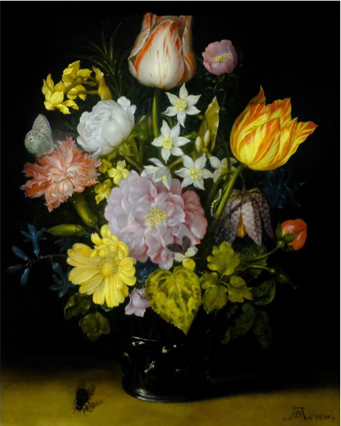 Flowers in a Glass Vase by Jan Brueghel the Elder 1610