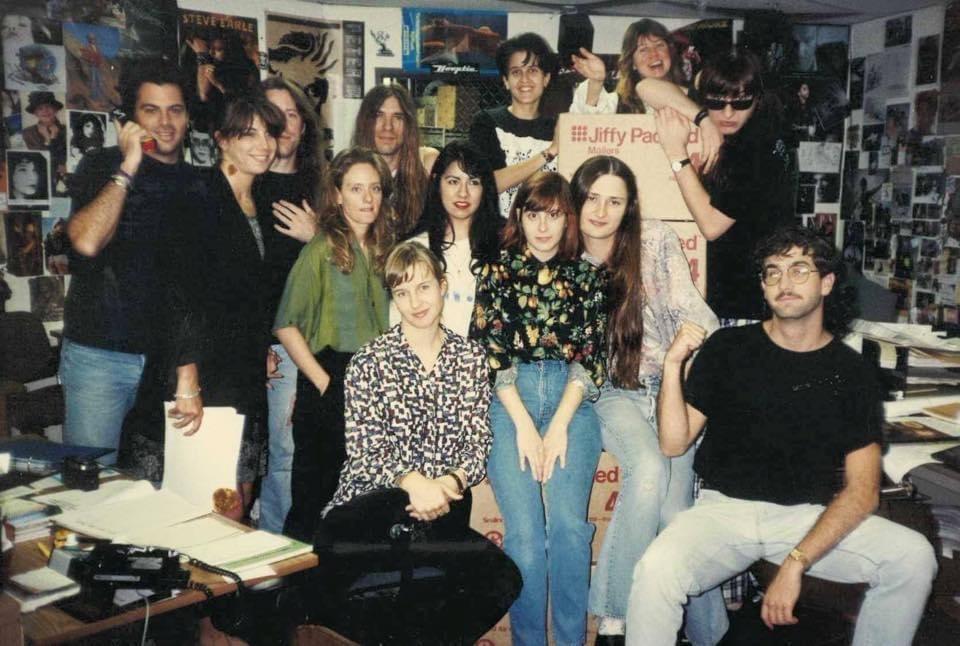 Karen, Todd Hits office 1990