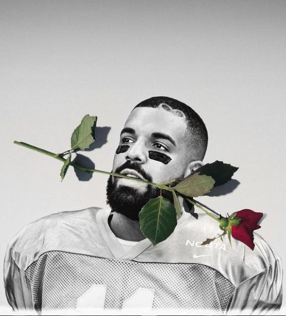 Drake with rose IG