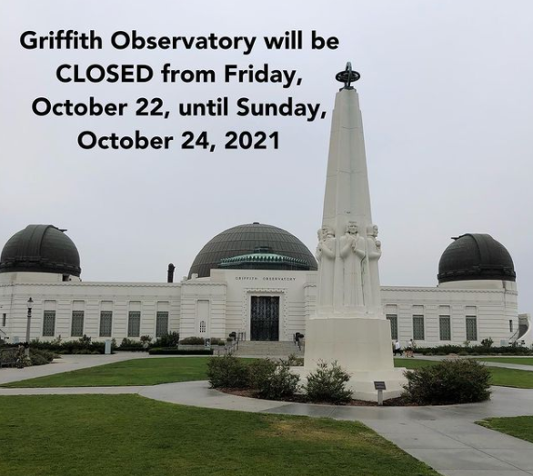 griffith observatory closed