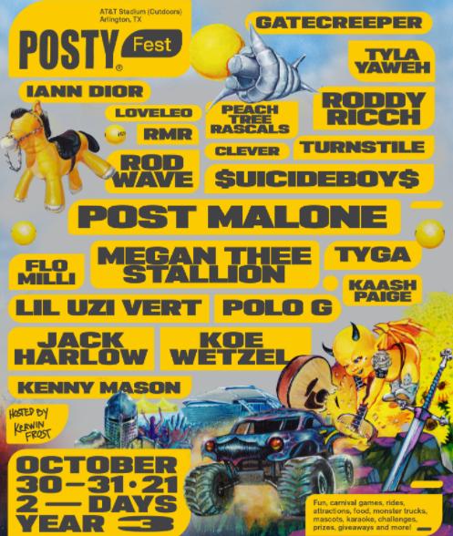 posty fest 2021 lineup