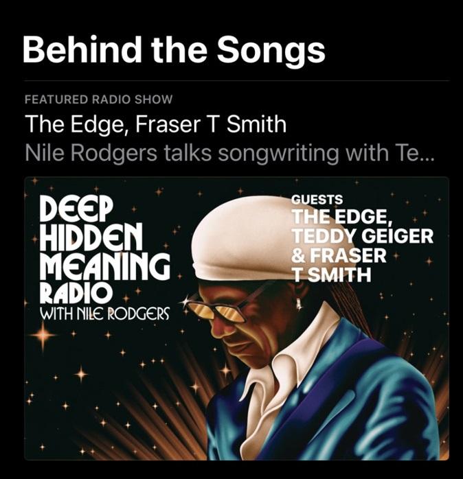 Behind the Songs radio
