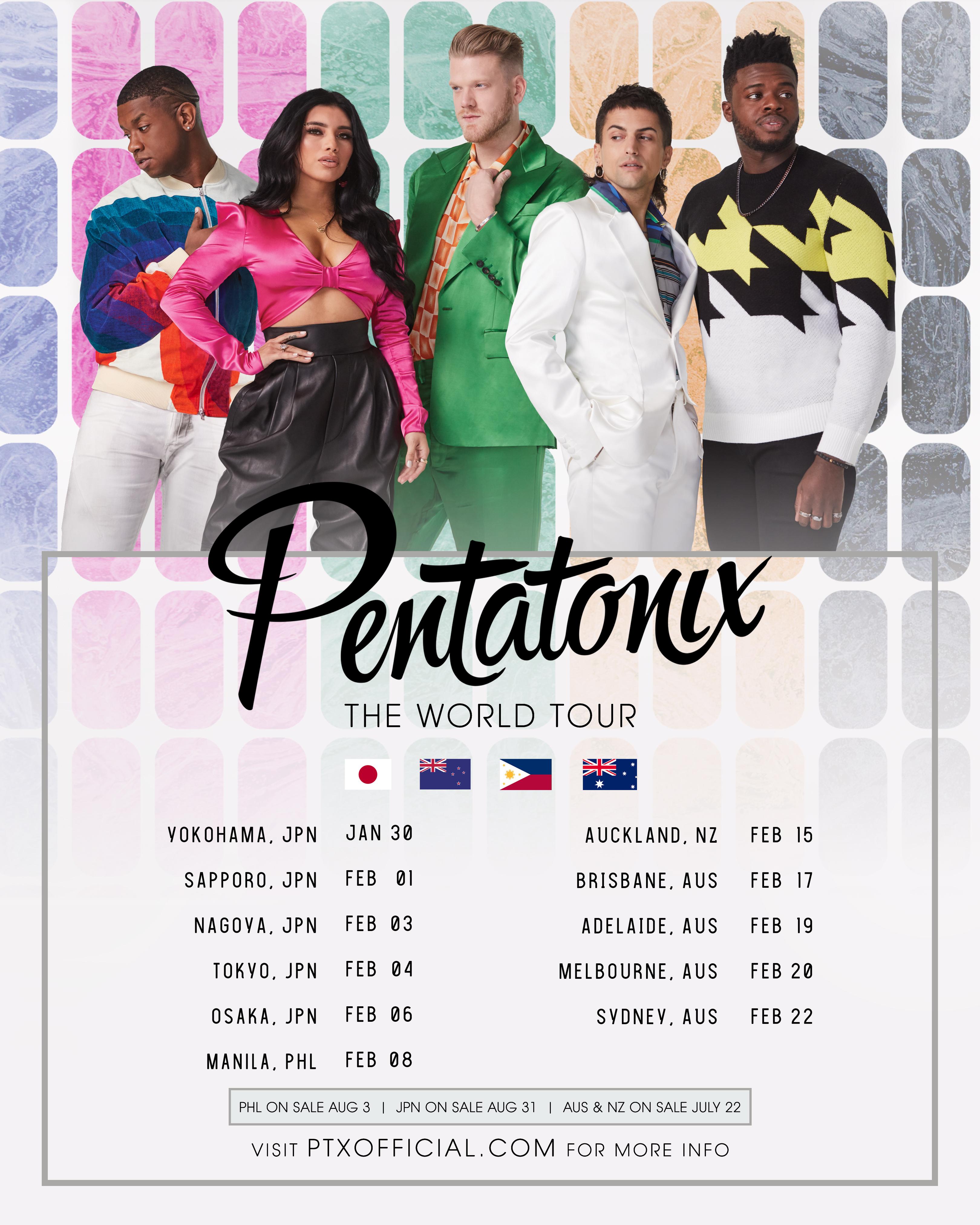 Ptx Tour 2020 PENTATONIX: THE WORLD TOUR IS HEADING TO JAPAN, PHILIPPINES