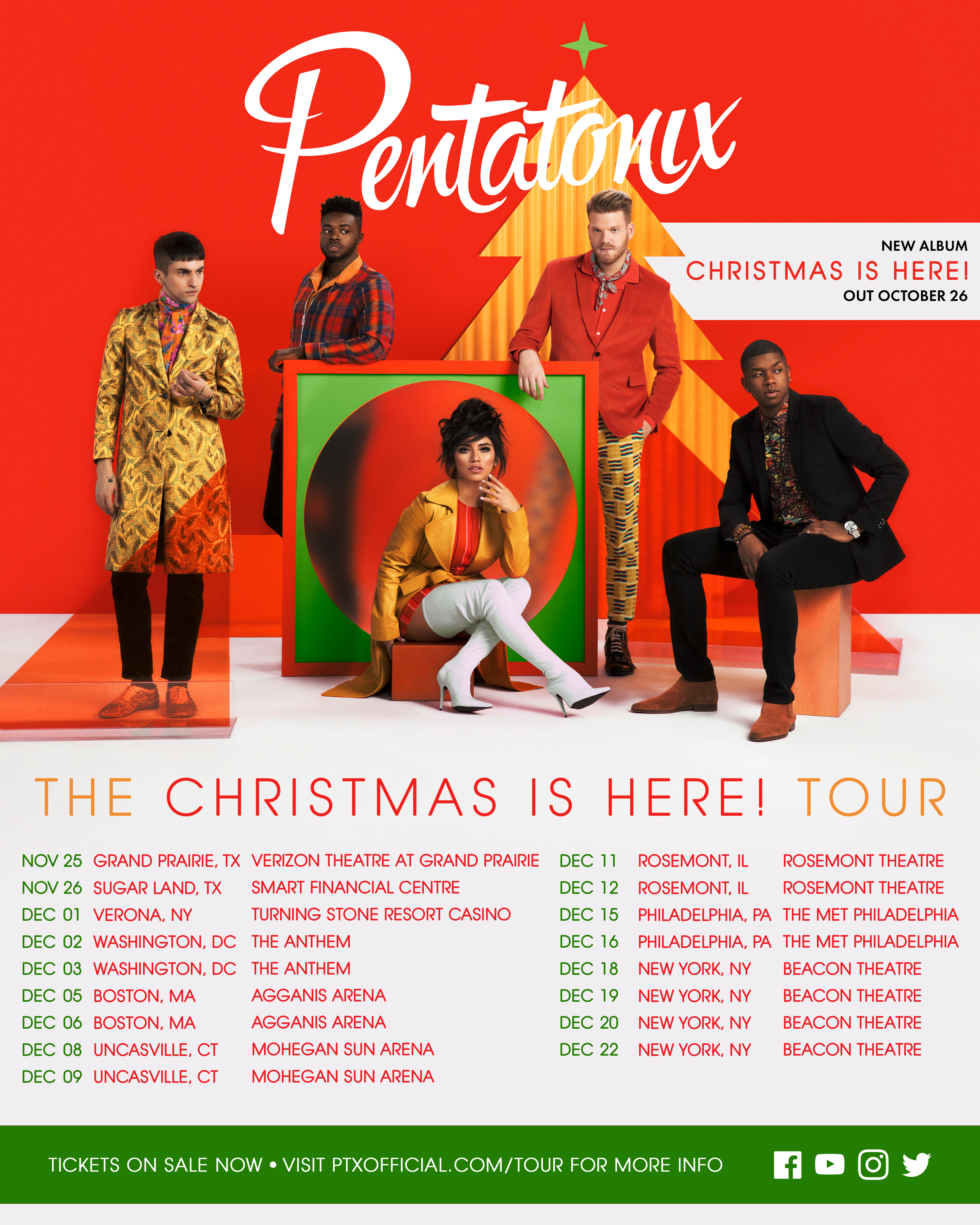 Christmas Is Here.Pentatonix Official Website The Christmas Is Here Tour