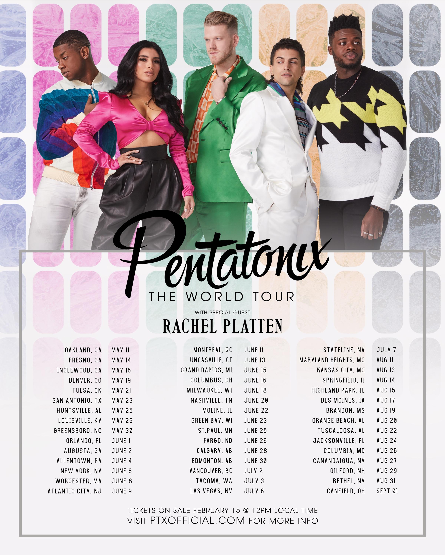 NEW TOUR ANNOUNCEMENT! PENTATONIX: THE WORLD TOUR DATES ANNOUNCED