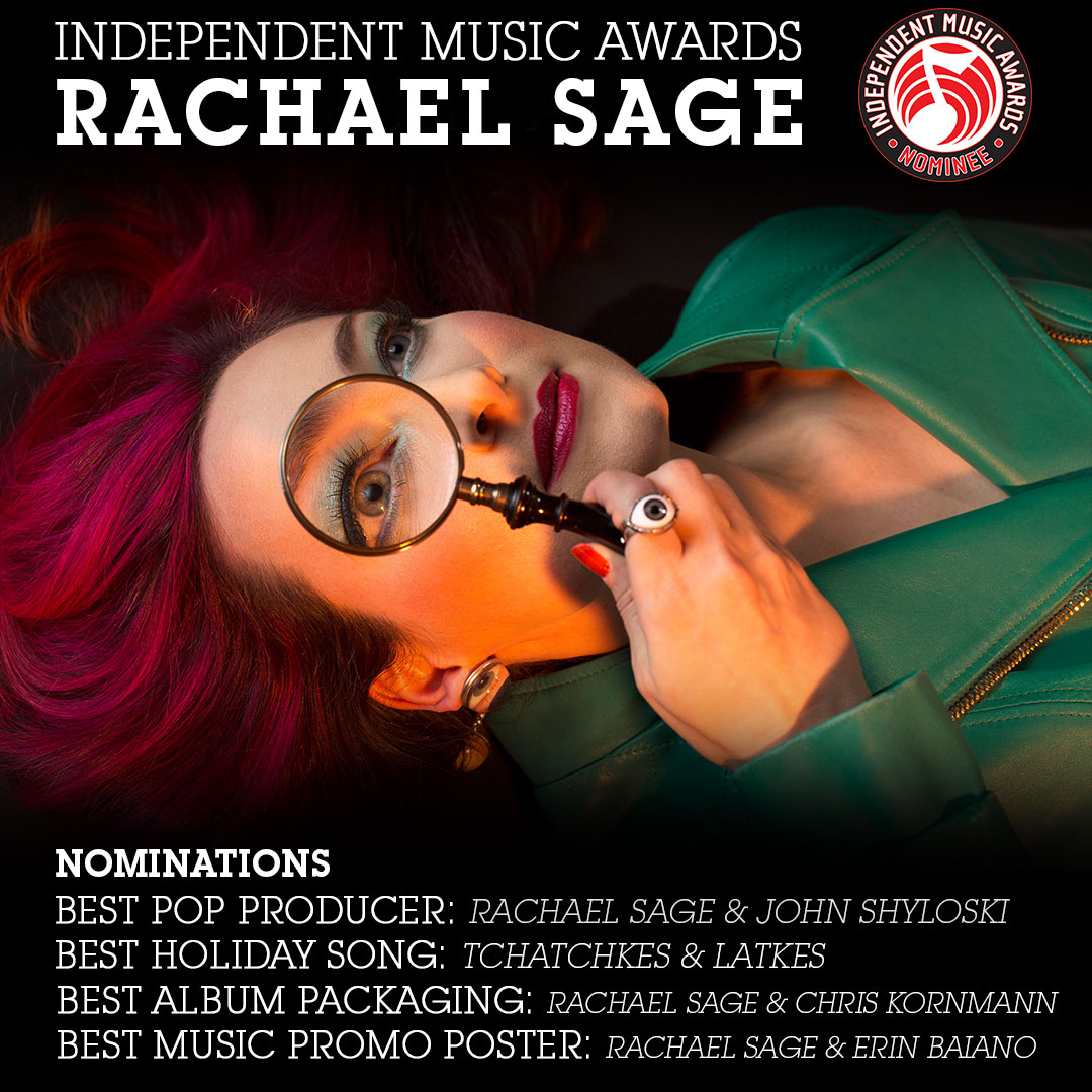 Rachael Sage : RACHAEL NOMINATED FOR INDEPENDENT MUSIC AWARDS